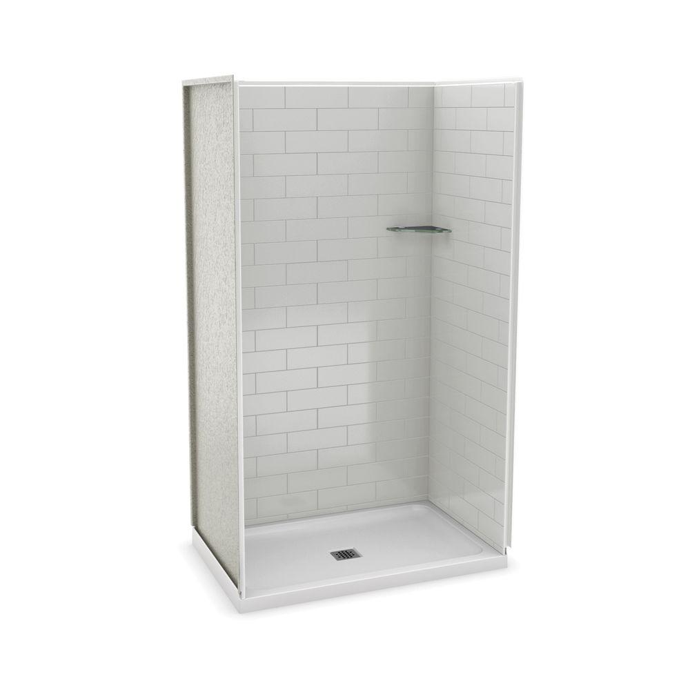 Utile by MAAX 32 in. x 48 in. x 83.5 in. Alcove Shower Kit with ...