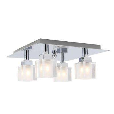 Tresco 4-Light Matte Nickel and Chrome Ceiling Light