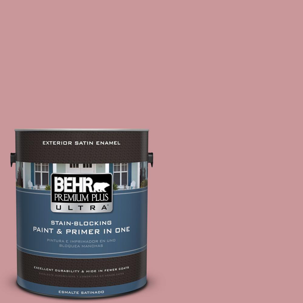 BEHR Premium Plus Ultra 1-gal. #S140-4 Minstrel Rose Satin Enamel Exterior Paint