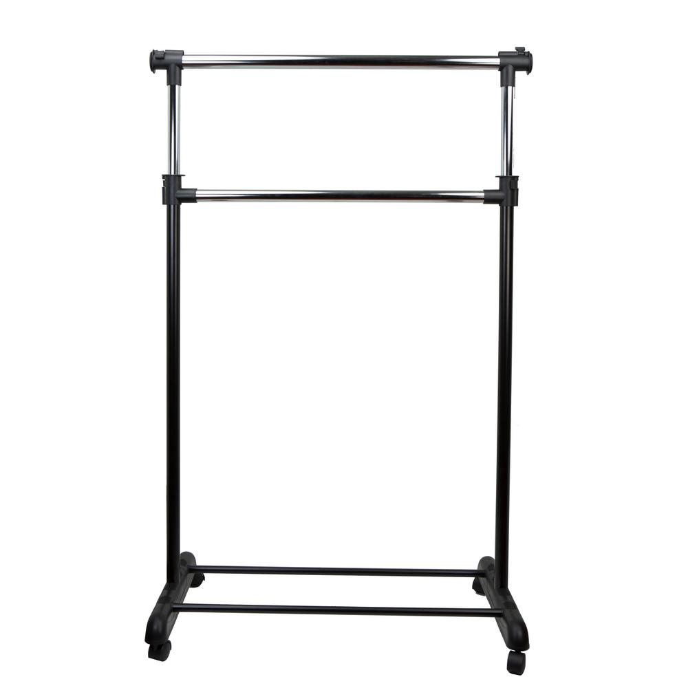 17 in. x 51 in. Black Garment Rack