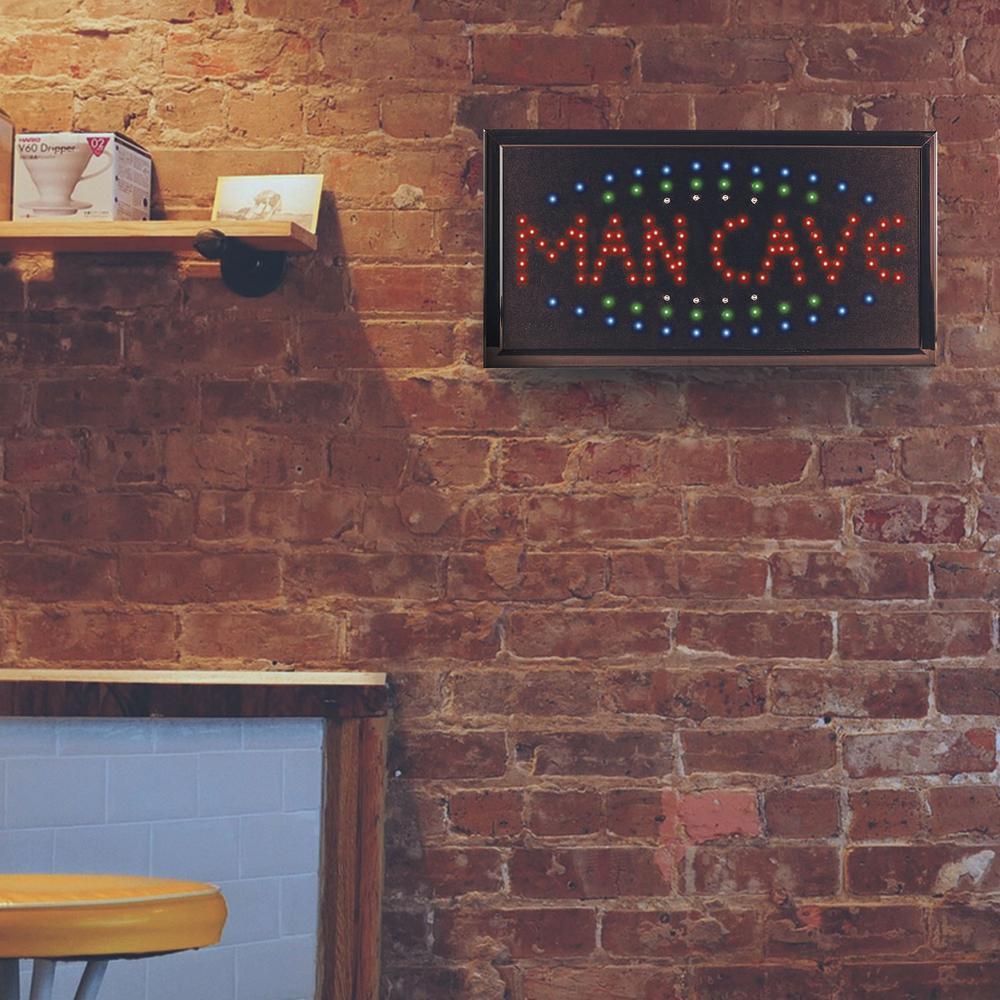 Man Cave Framed Flashing LED Sign