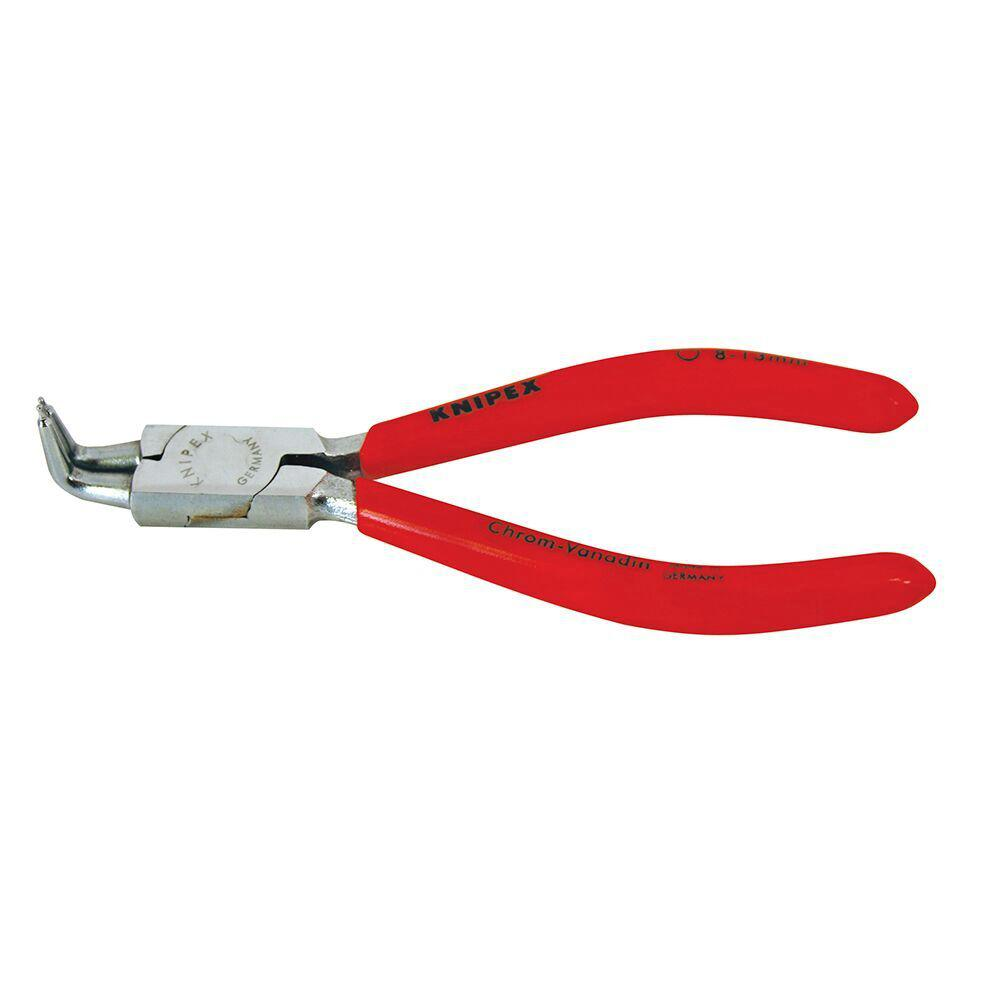 KNIPEX 5-1/4 in. Circlip Snap-Ring Pliers-Internal 90-Degree Angled Chrome Forged Tip Size 1