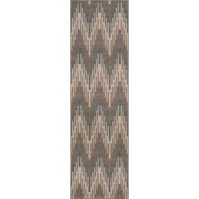 Baja Ikat Ivory 2 ft. 3 in. X 7 ft. 6 in. Indoor/Outdoor Runner