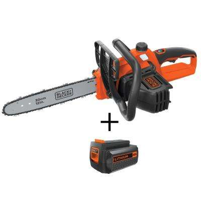 12 in. 40-Volt MAX Lithium-Ion Cordless Chainsaw (Tool-Only) with Bonus 1.5Ah Battery - Charger Not Included