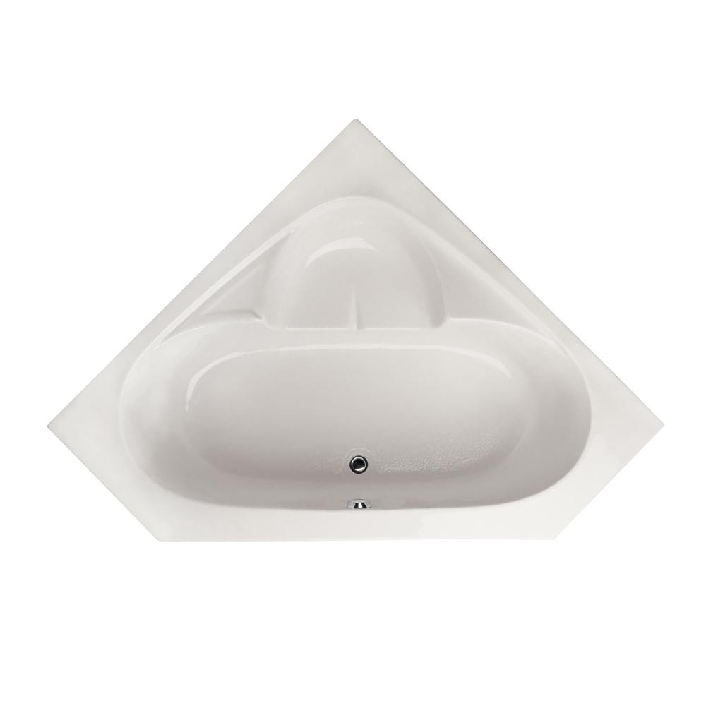 Hydro Systems Studio 5 ft. Corner Center Drain Bathtub in White ...