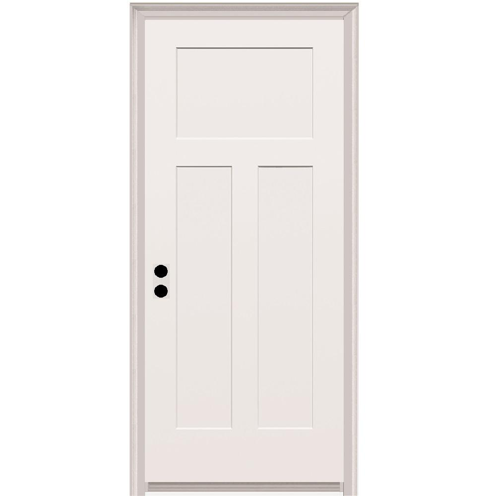 32 In X 80 Craftsman Right Hand Primed Composite 20 Min Fire Rated House To Garage Single Prehung Interior Door