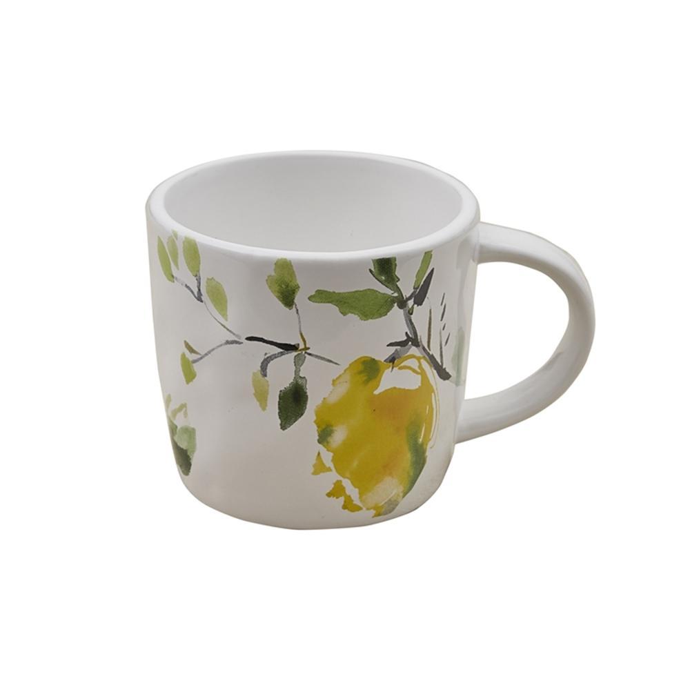 Lovely Lemons 16 oz. Multicolor Ceramic Coffee Mug (Set of 4)