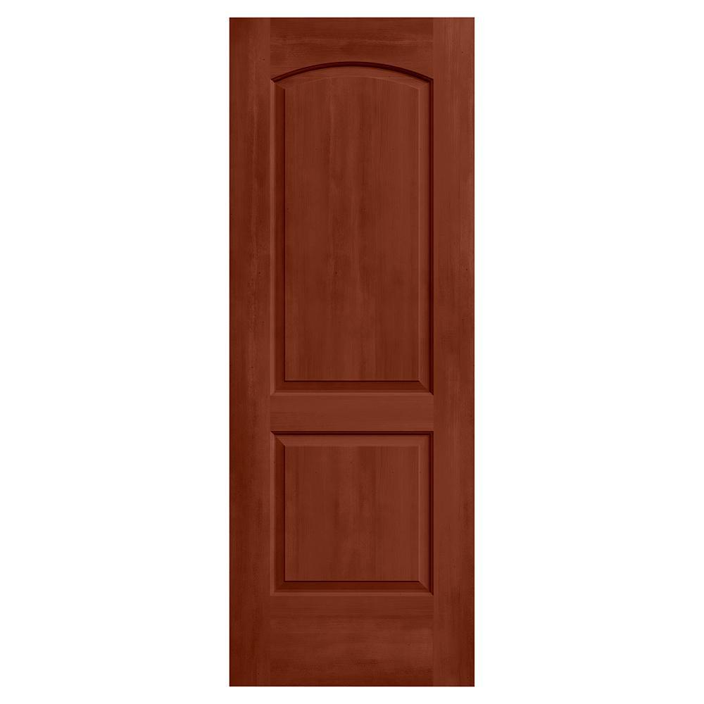 24 in. x 80 in. Continental Amaretto Stain Molded Composite MDF Interior Door Slab