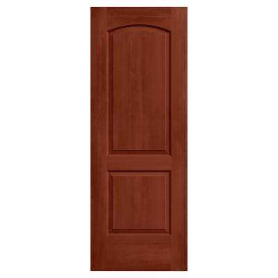 28 in. x 80 in. Continental Amaretto Stain Solid Core Molded Composite MDF Interior Door Slab