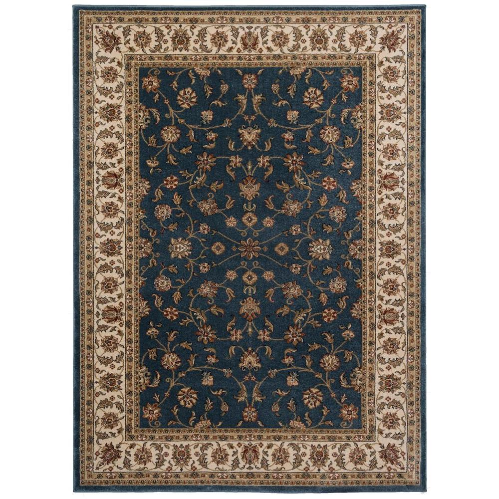 Home decorators collection maggie blue 5 ft 3 in x 7 ft for Home decorators rugs blue
