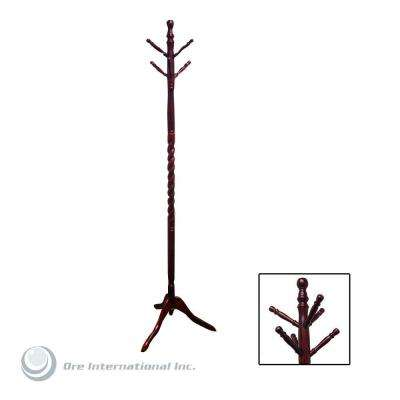 Twist Cherry 6-Hook Coat Rack