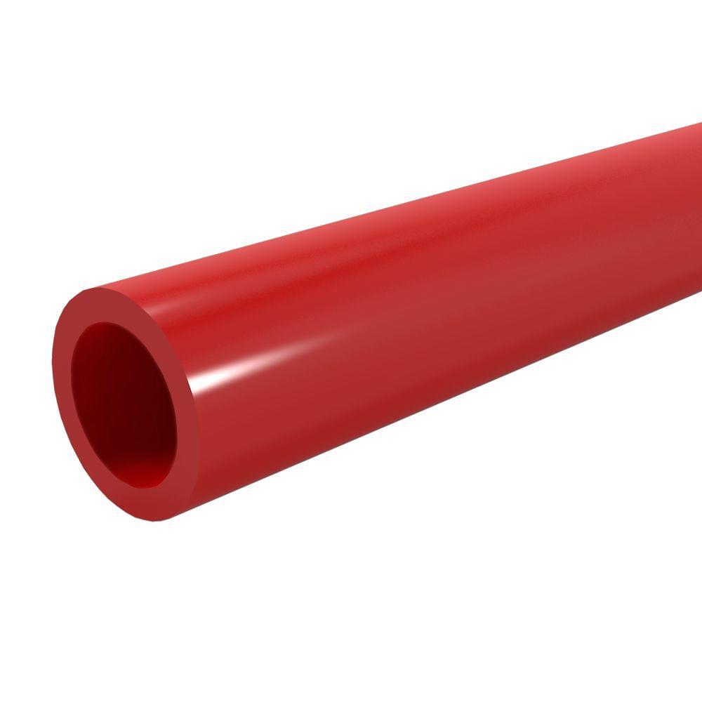 3/4 in. x 5 ft. Furniture Grade Sch. 40 PVC Pipe in Red