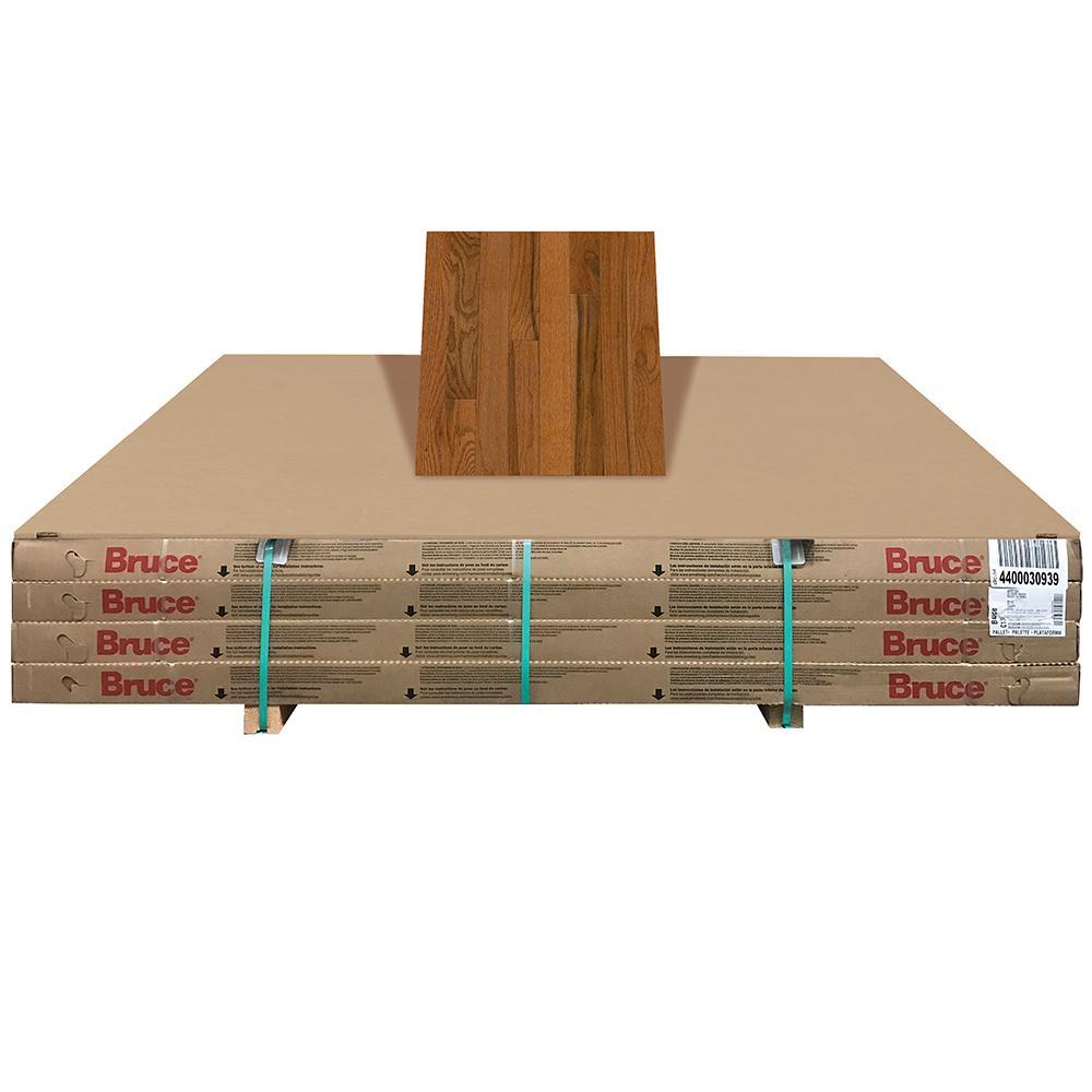 Plano Oak Gunstock 3/4 in. Thick x 3-1/4 in. Wide x Random Length Solid Hardwood Flooring (352 sq. ft. / pallet)