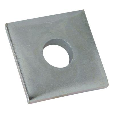 3/8 in. Square Strut Washer - Silver Galvanized (10 Packs of 5/Case - 50 Total Pieces)