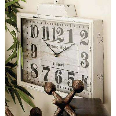 15 in. x 16 in. London Inspired Antique Metal Wall Clock