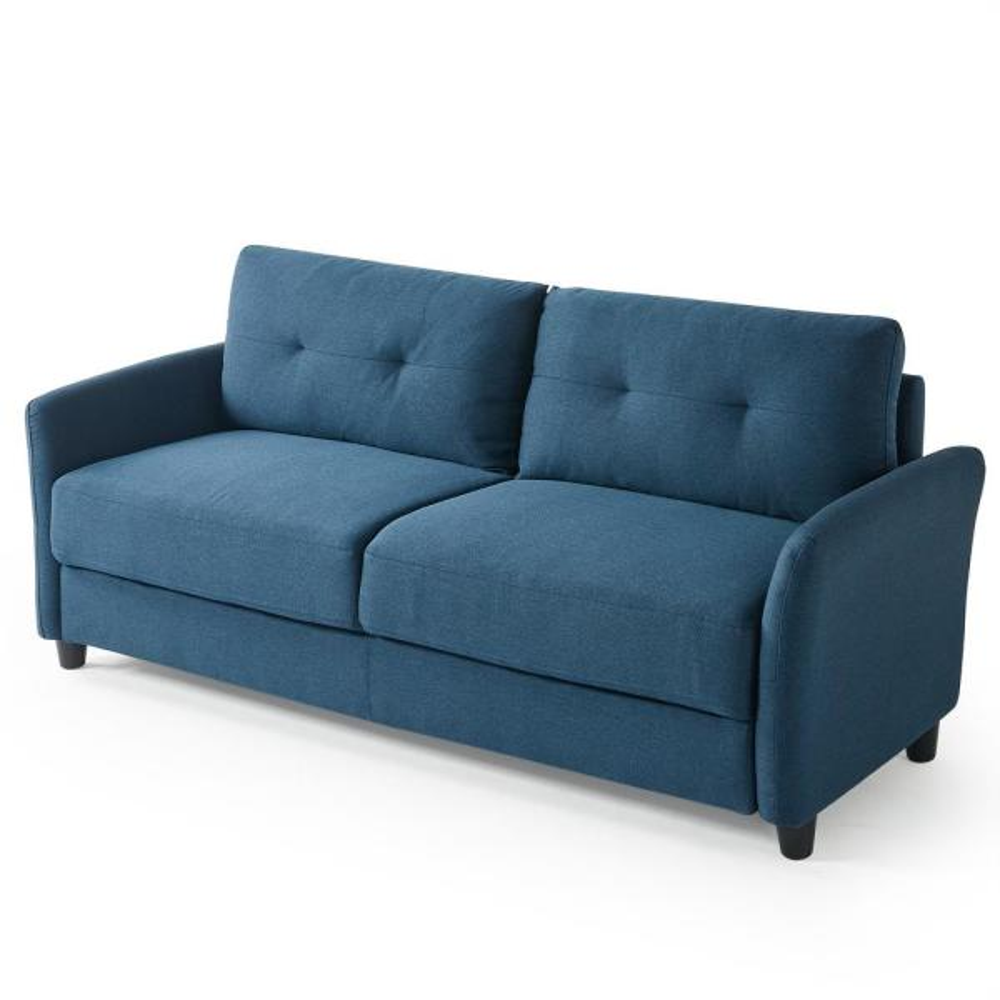Ricardo 3-Seat Lyon Blue Upholstered Sofa