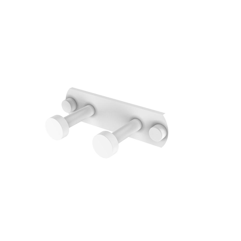 Allied Brass Fresno Collection 2-Position Multi Hook in Matte White