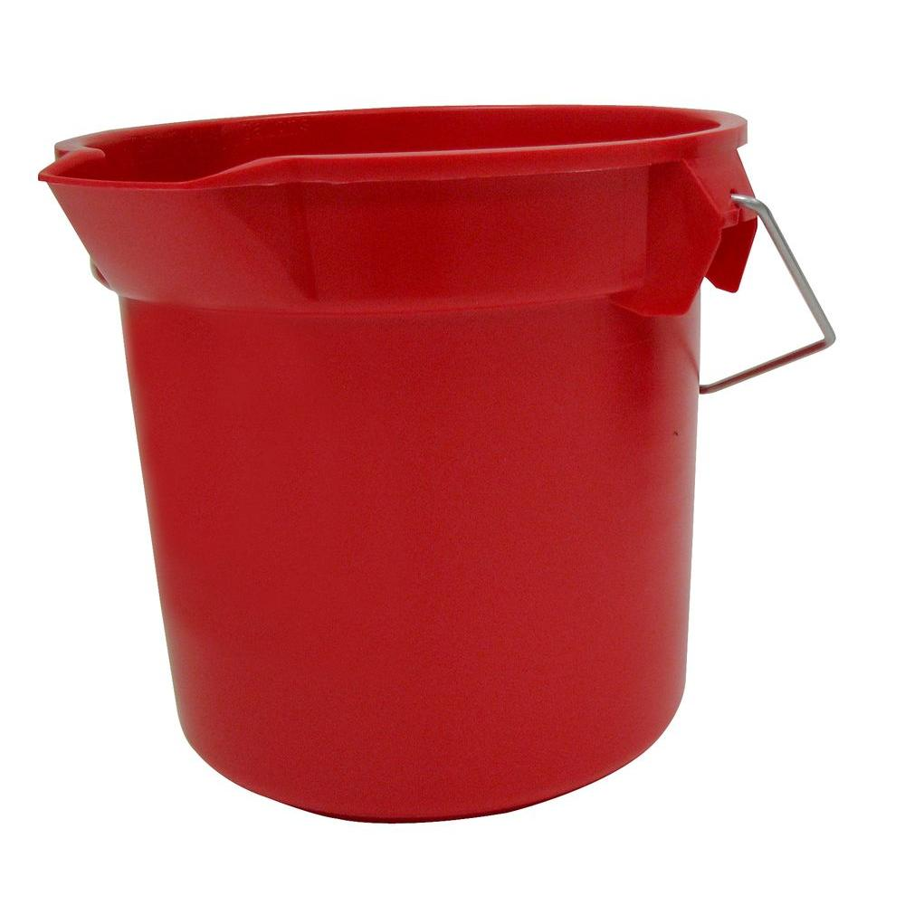 Rubbermaid Commercial Products Brute 14 Qt. Red Round Bucket