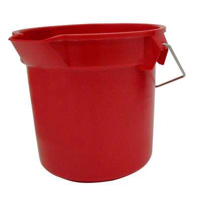 Brute 14 Qt. Red Round Bucket