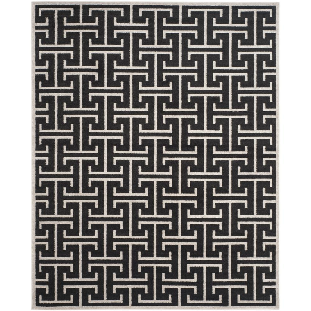 Amherst Anthracite/Light Gray 8 ft. x 10 ft. Indoor/Outdoor Area Rug