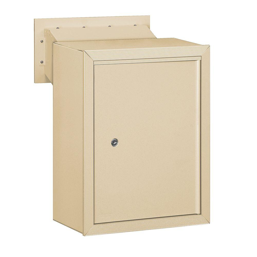 Salsbury Industries 2256 Series Sandstone Receptacle Option for Mail Drop
