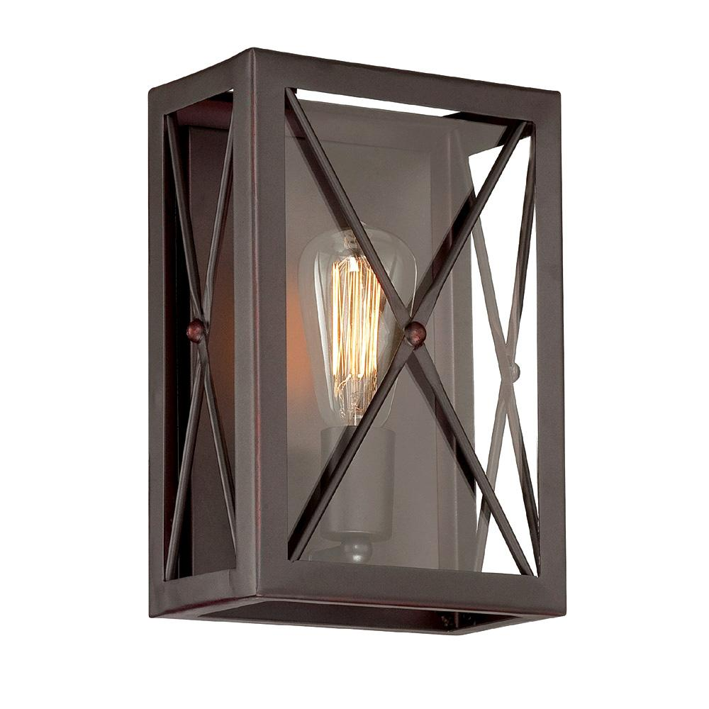 High Line 1-Light Satin Bronze Interior Incandescent Bath Vanity Light