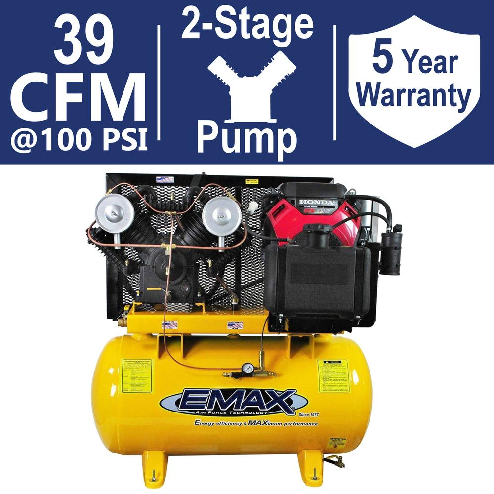 EMAX Industrial PLUS Series 60 Gal. 18 HP 2-Stage Stationary Gasoline Air Compressor
