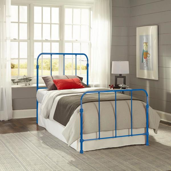 Fashion Bed Group Nolan Cobalt Blue Full Headboard and Footboard with