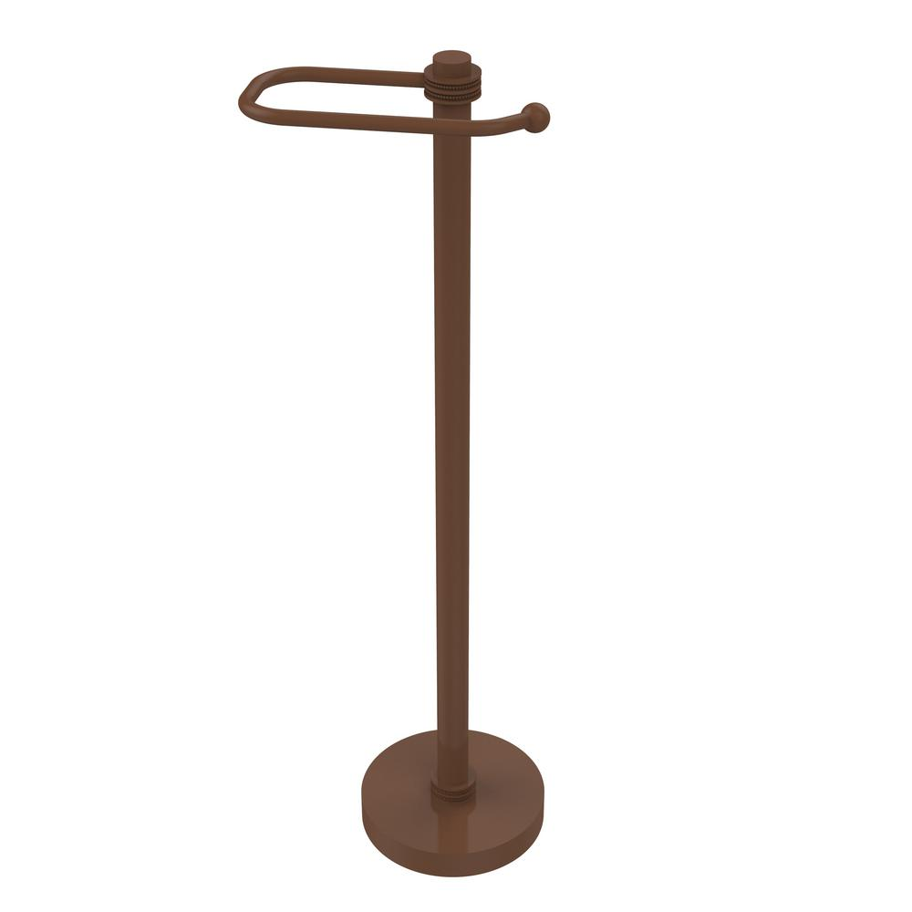 Allied Brass European Style Free Standing Toilet Paper Holder In Antique Bronze