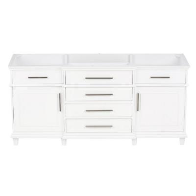 Berkeley 72 in. Vanity Cabinet Only in White