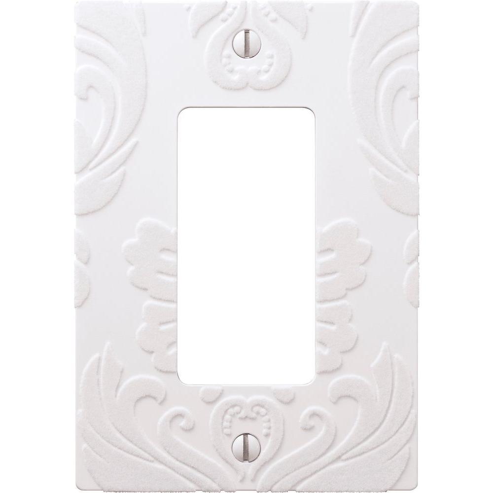 demask 1 rocker wall plate white
