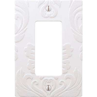 Demask 1 Rocker Wall Plate - White