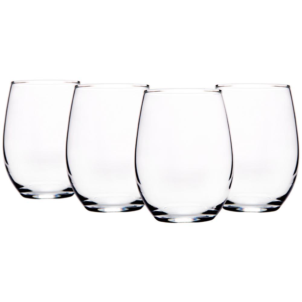 15 fl. oz. Stemless Wine Glasses (4-Pack)