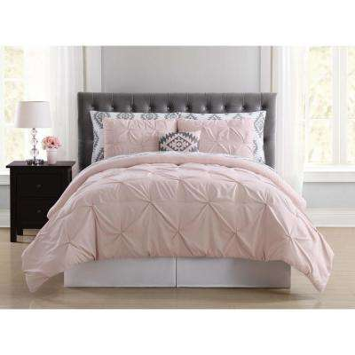 Pueblo Pleated Blush Queen Bed in a Bag