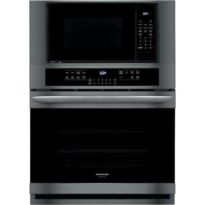 30 in. Electric True Convection Wall Oven with Built-In Microwave in Black Stainless Steel