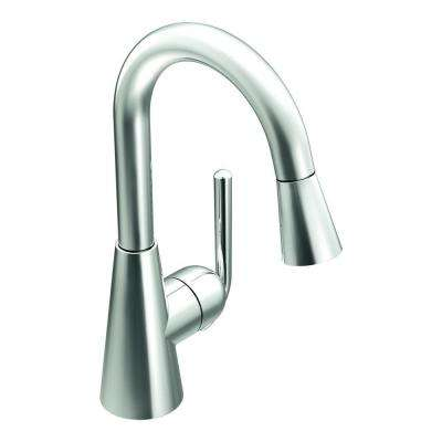 Ascent Single-Handle Bar Faucet Featuring Reflex in Chrome with Pull-Down Sprayer