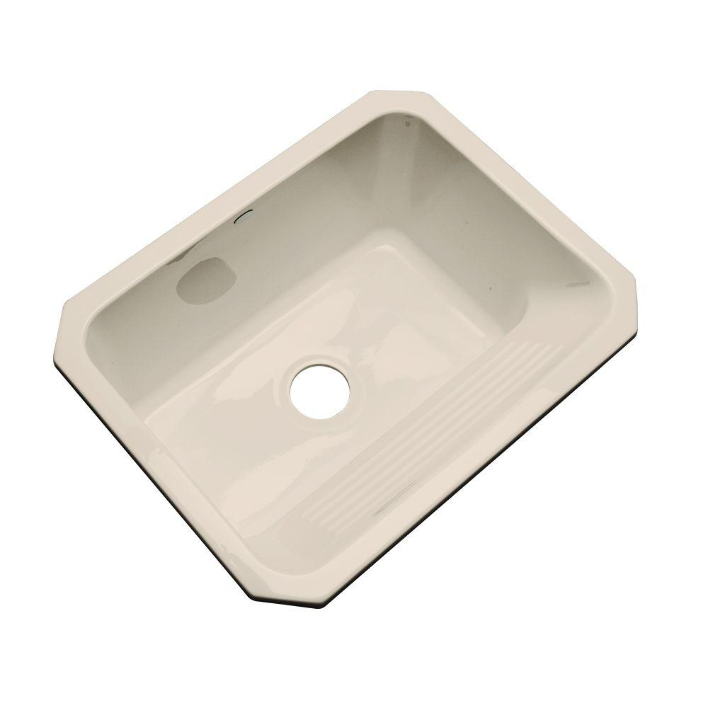 Thermocast Kensington Undermount Acrylic 25 in. Single Bowl Utility Sink in Candle Lyte