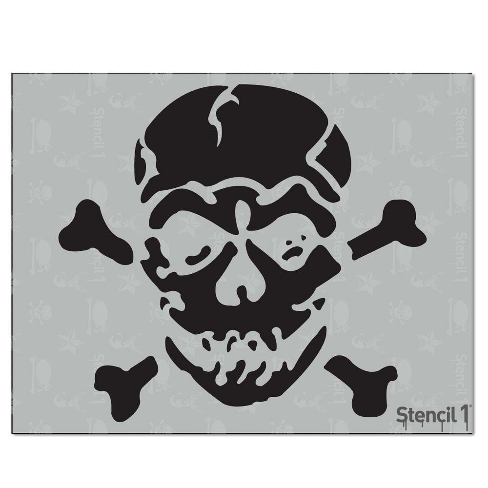 Stencil1 Jolly Roger Stencil S1 01 20 The Home Depot