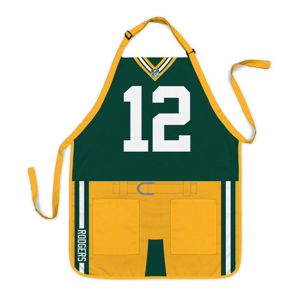 newest 7fe2c 36b37 Party Animal Aaron Rodgers Green Bay Packers NFL Jersey Apron