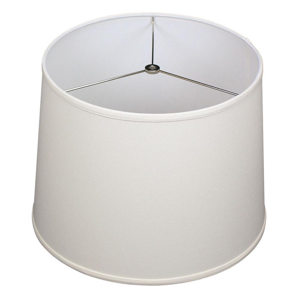 14 in. Top Diameter x 16 in. Bottom Diameter x 12 in. Slant Linen Cream Empire Lamp Shade