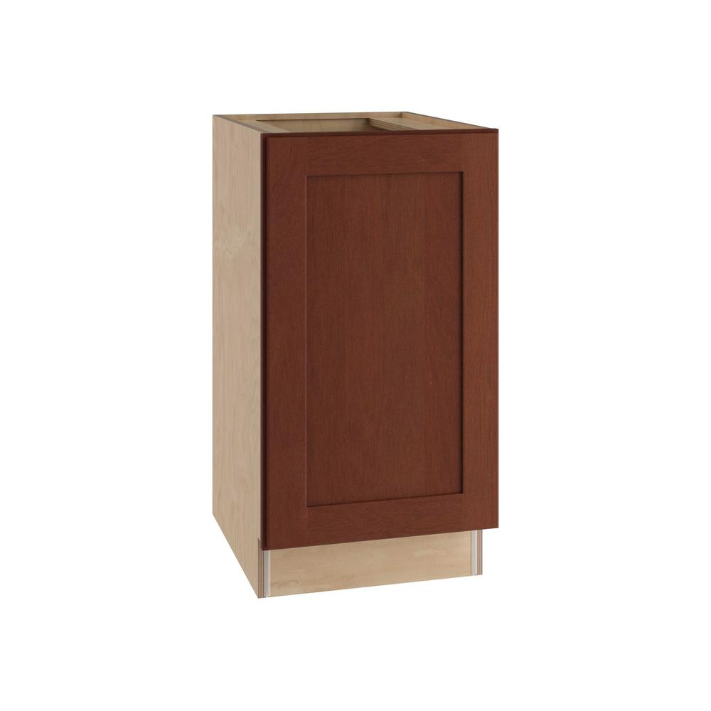 Home Decorators Collection Kingsbridge Assembled 18x34.5x24 in. Single Door Hinge Right Base Kitchen Cabinet in Cabernet