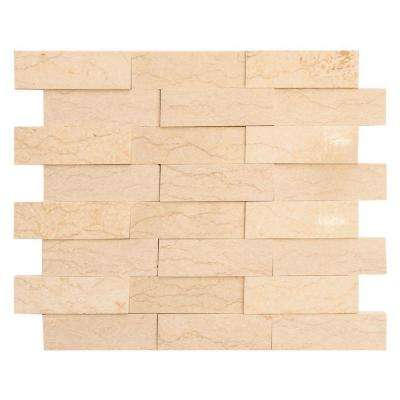Terrain 11-3/4 in. x 10-3/8 in. x 8 mm Marble Mosaic Tile