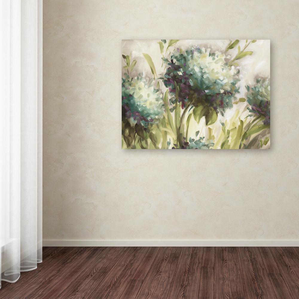 Trademark Fine Art 35 in. x 47 in. ''Hydrangea Field'' by