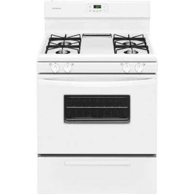 30 in. 4.2 cu. ft. Gas Range in White