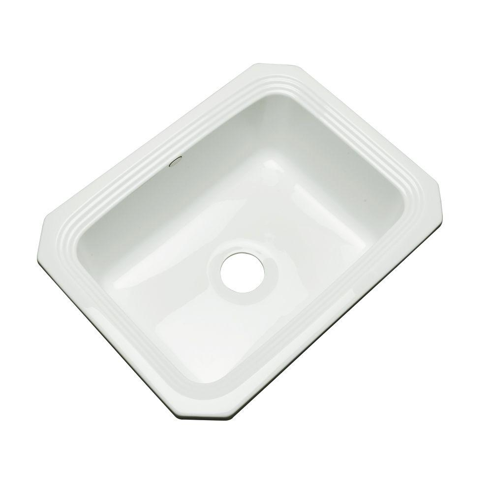 thermocast rochester undermount acrylic 25 in  single bowl kitchen sink in white 25000 um   the home depot thermocast rochester undermount acrylic 25 in  single bowl kitchen      rh   homedepot com