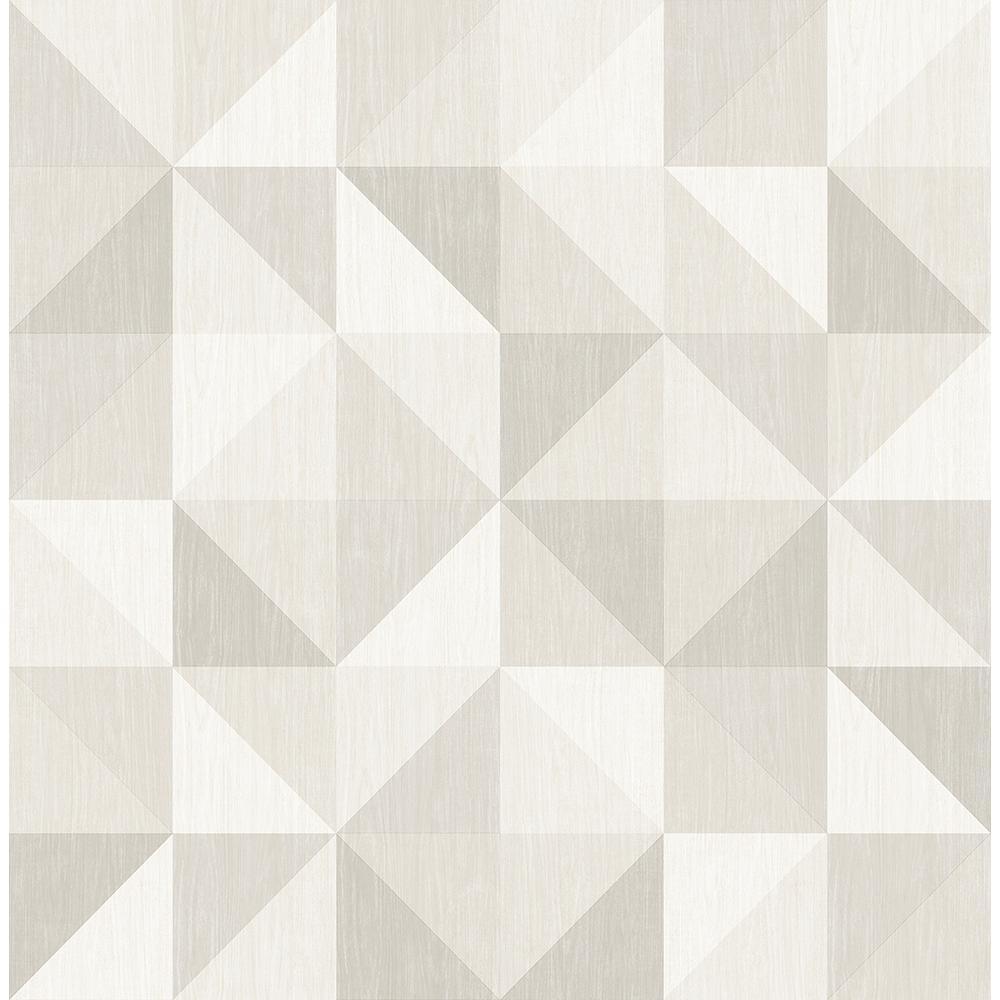 Puzzle Light Grey Geometric Wallpaper Sample