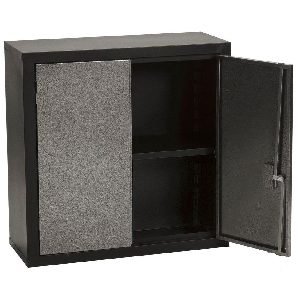 Edsal 30 In H X 30 In W X 12 In D Wall Mounted Cabinet Storage In Black Gray Wcs123131 The Home Depot