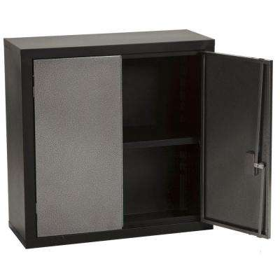 30 in. H x 30 in. W x 12 in. D Wall Mounted Cabinet Storage in Black/Gray
