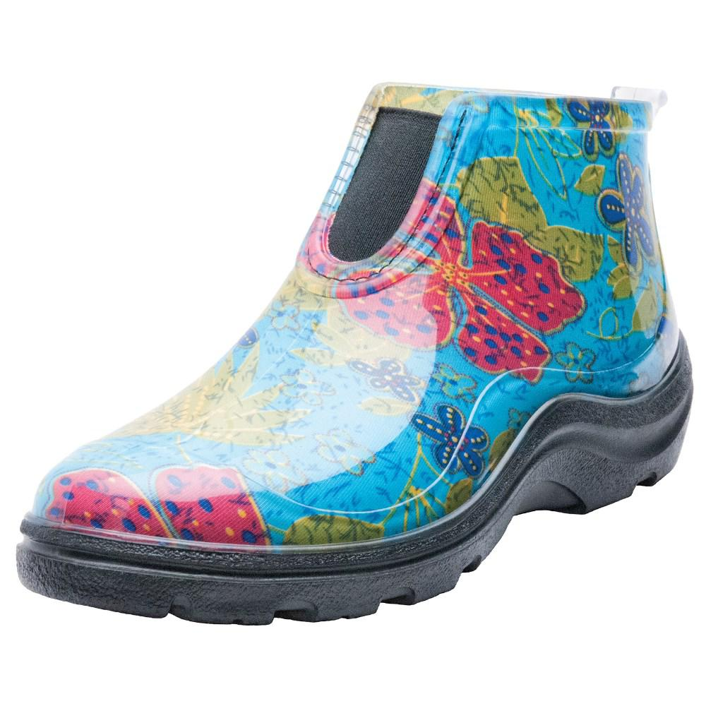Sloggers Women S Blue Rain And Garden Shoe Ankle Boots