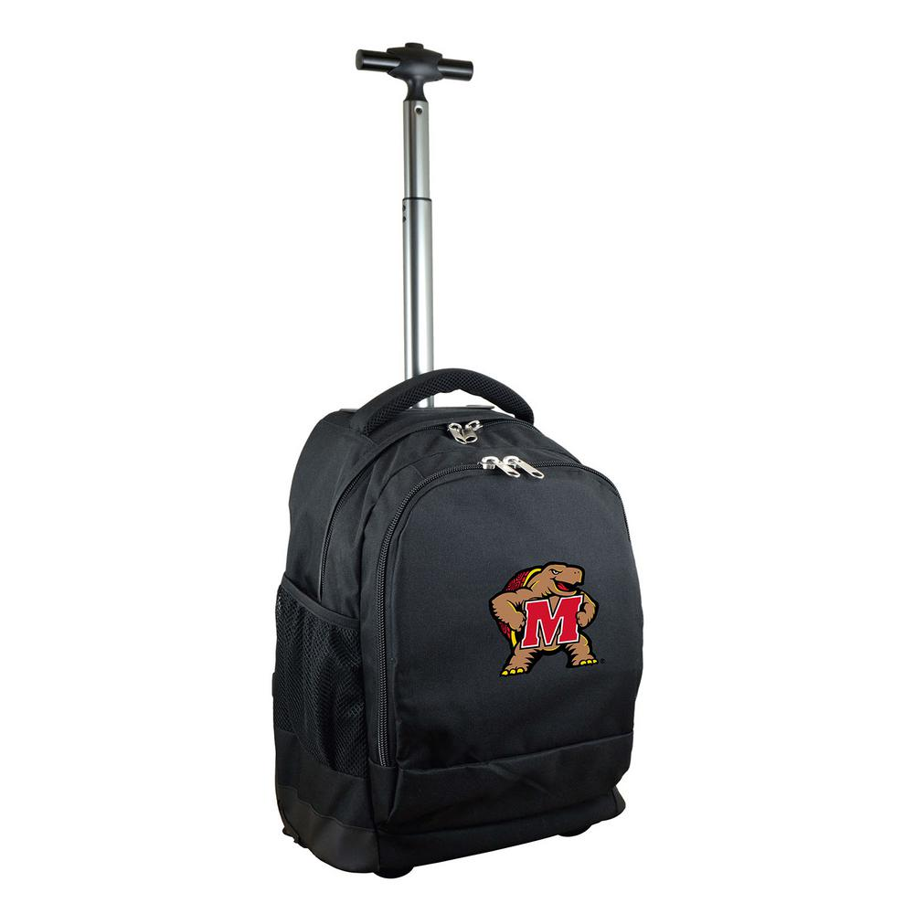 NCAA Maryland 19 in. Black Wheeled Premium Backpack
